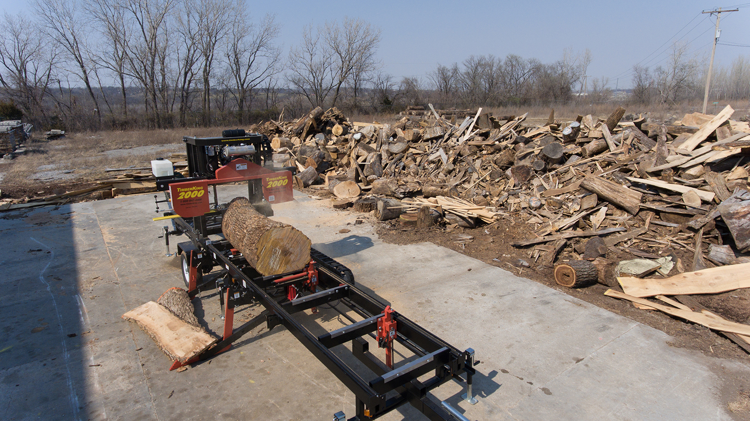 Heavy Industrial Full Hydraulics Portable Sawmill | TimberKing